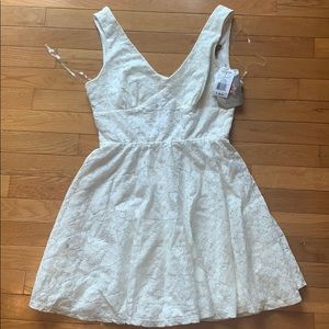 NEW Off white lace floral short dress bridal